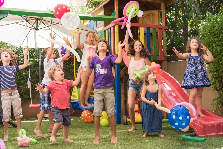 Balloon play children